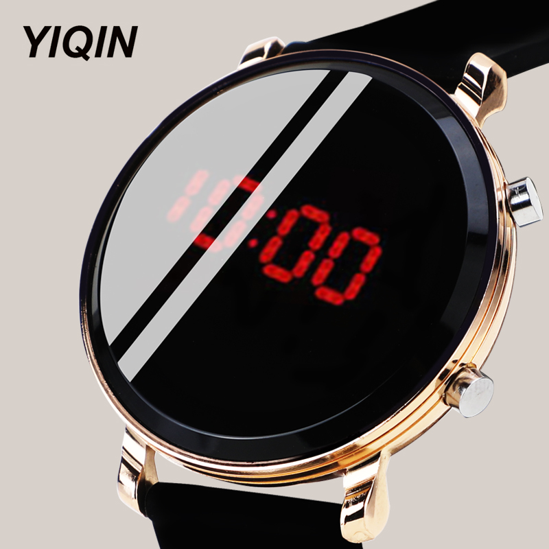 New Wristwatch Casual Watches Round Kids Watches Children Led Silicone Watch Digital Watch Gold Boy Girl Sport Electronic Clock