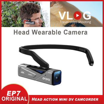Vblog 4K Video Camera Digital Camcorder EP7 UHD 60fps Wearable Anti-shake IP65 Waterproof Camara Filmadora Vlog Camera