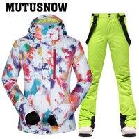 Женский зимний лыжный костюм, супер тёплый лёгкий и непромокаемый 1