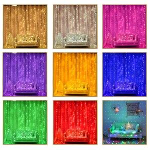 Image 2 - 2x 2/3x 2/6 × 3メートルカーテンledつららストリングライトクリスマス妖精led花輪屋外ライトホーム結婚式のパーティーの庭の装飾