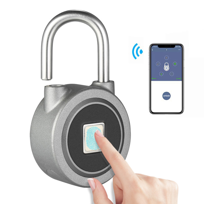 Imporx impressão digital inteligente keyless bloqueio à prova dwaterproof água app botão senha desbloquear cadeado anti-roubo fechadura da porta para android ios sistema