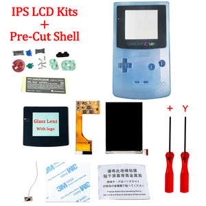 Image 4 - Full Screen Backlight IPS LCD With Pre cut Shell Case for Gameboy Color ips backlight LCD screen for GBC with housing shell case