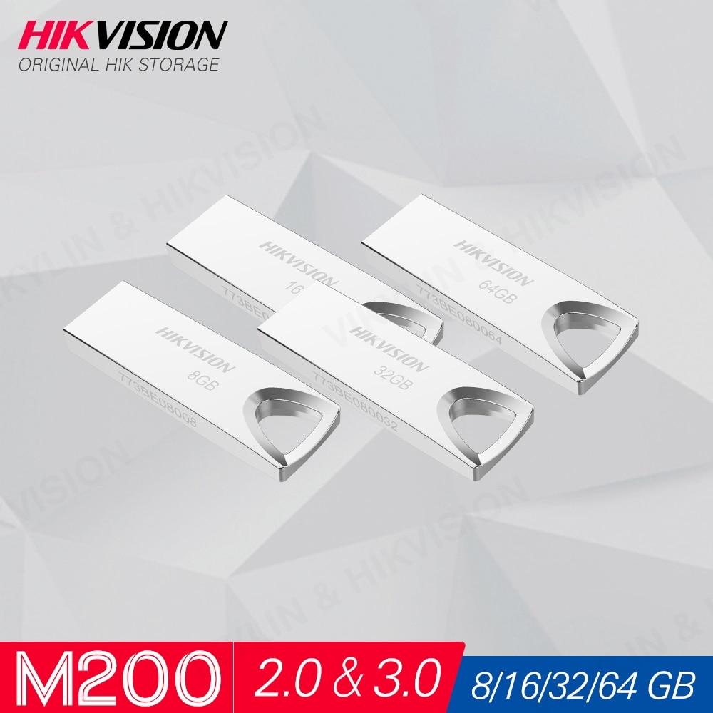 Hikvision HikStorage USB Flash Drive 8GB 16GB 32GB 64GB 128GB Mini Pen Drive USB2.0 USB3.0 Pendrive Memory Stick Storage  #M200