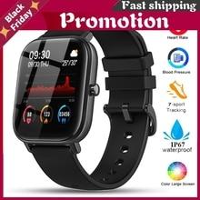P8 Smart Watch Men Women Ip67 Waterproof Fitness Tracker Sport Heart Rate Monitor Full Touch Smartwatch For Amazfit Gts Xiaomi