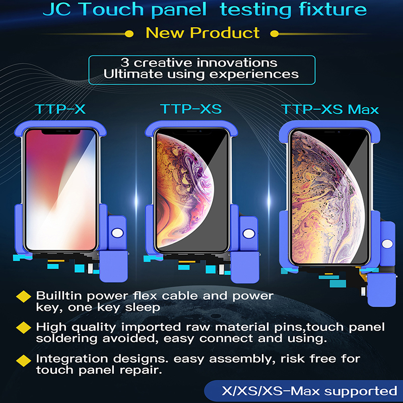 JC LCD Tester For ip X XS MAX 11 11pro 11pro max LCD Touch display function Testing Fixture