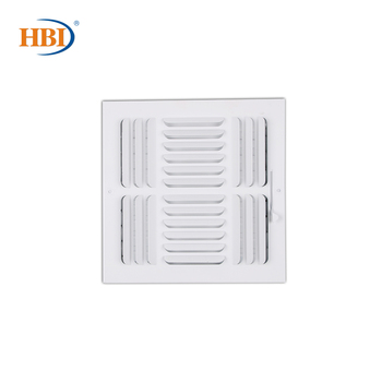 HBI 3-Way W10 x H10 Curved-Blade Ventilation Grille Air Outlet Valve Air Supply Register Air Vent Cover Steel Ceiling/Sidewall curved air curved air airborne cd digisleeve