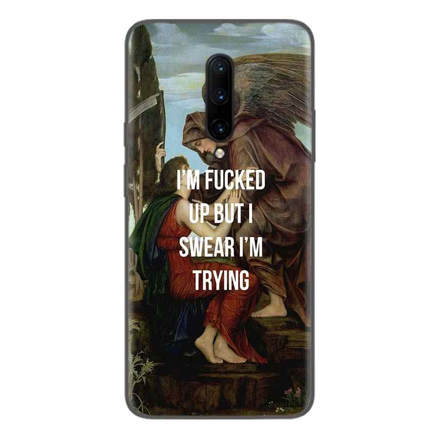 Черный чехол с рисунком рождения Венеры для Oneplus 7Pro 1 + 7 Pro 6 6T 5 5T 3T художественный подарок узорчатый мягкий чехол для телефона