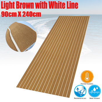 EVA Foam Boat Teak Decking Sheet 3 Size Yacht Marine Flooring Carpet Mat With Self Adhesive Light Brown In White Accessories