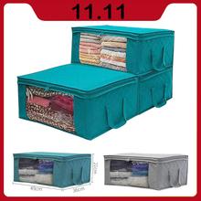 1 3 sztuk składane ubrania organizator Tidy etui na walizkę domu włóknina worek do przechowywania przechowywanie odzieży pojemnik tanie tanio Włókniny tkaniny 49x36x21 cm Foldable Portable Organizer Non-Woven Fabric Home Storage Box organizadores cloth storage