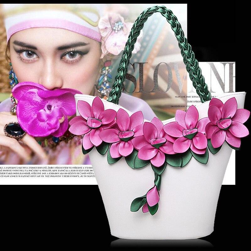 Moda feminina flor bolsas de alta qualidade
