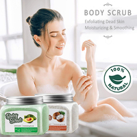 Natural Coconut and Avocado Body Exfoliator Scrub Cream For Exfoliating Whitening Brightening Peeling Cream Skin Care Women Men