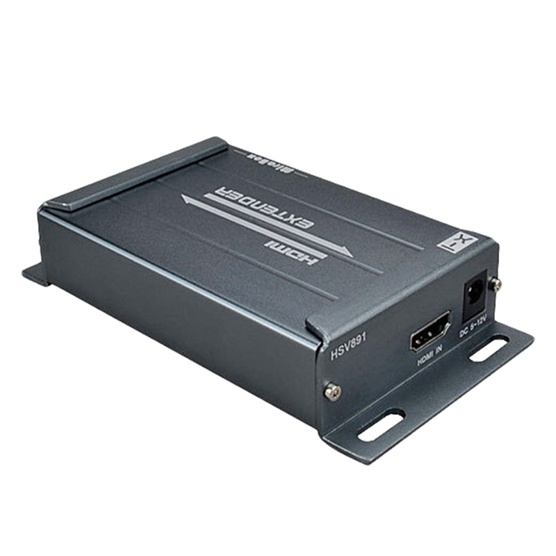 FULL Up to 150m/492Ft  HDMI Extender IR Audio Extractor Via Rj45 Cat5 Cat6 EU Plug|  - title=