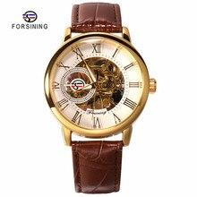 Forsining Fashion Sport Pria Bisnis Jam Tangan Top Brand Mewah Mekanis Skeleton Watch Hitam Emas Jam Jam Tangan Mannen