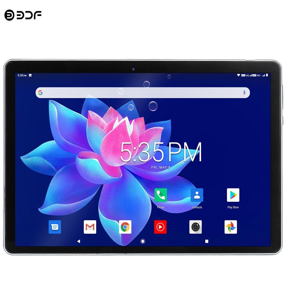 Novo 10.1 polegada android 9.0 tablet pc octa núcleo google play 3g 4g lte chamada comprimidos gps wifi bluetooth 2.5d vidro temperado 10 polegada