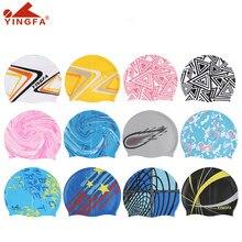 Yingfa c0062b 100% tampa de natação de silicone natural