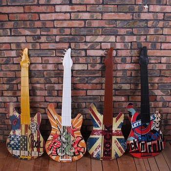 Iron guitar wall decoration creative wall decoration home decorations crafts wall mural bar wall pendant