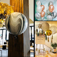 50pcs/lot 22inch 4D helium balloon Birthday Party Decoration supplies Agate balloon Aluminium Foil balloon baby shower