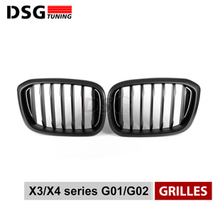Image 3 - Front Kidney Grill For BMW G01 G02 Bumper Racing Grille X3 X4 ABS Gloss Black/Matt Black Auto Styling xDrive20i xDrive30i 2018+