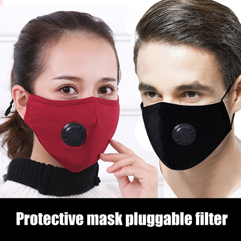 1PC Mask Core Can Be Replaced PM2.5 Anti Dust Breathable Earloop Mouth Mask +5PCS Filters Anti-Virus Fast Delivery 1