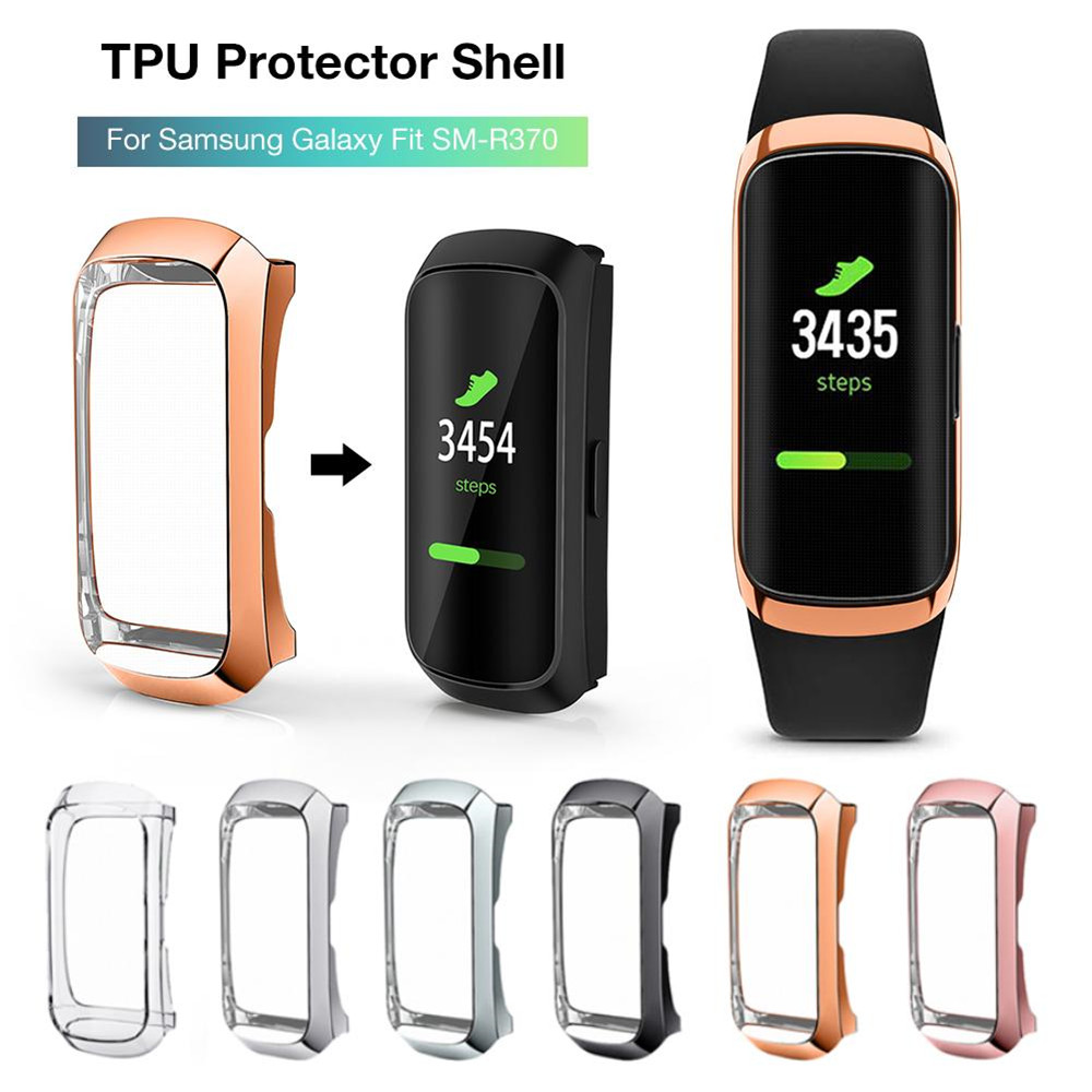 360° Full TPU Plating Protective Shell Case Cover Smart Bracelet Cover Shockproof Watch Frame For Samsung Galaxy Fit SM-R370