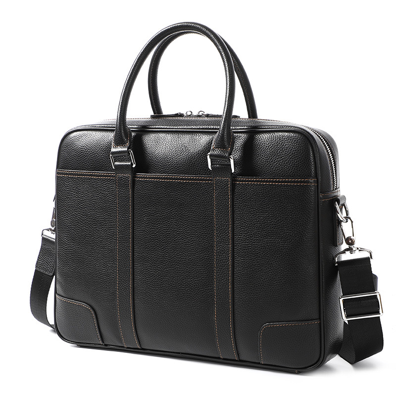 2020 Genuine Leather Men's Briefcase Handbag Cross Section Men's Men's Computer Bag  Business Men's Laptop Bag