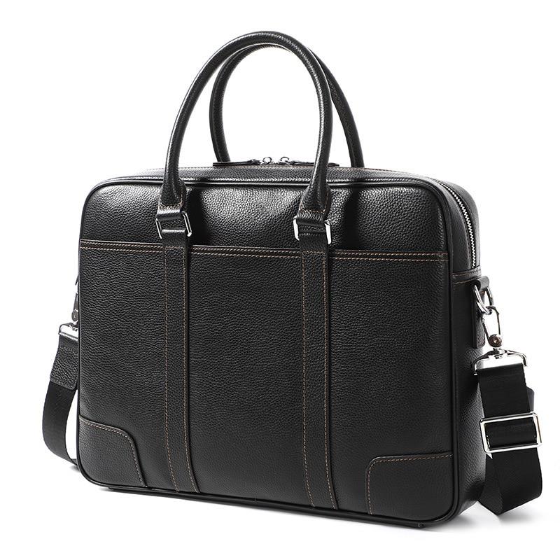 2020 Genuine Leather Men's Briefcase Handbag Cross Section Men's Men's Computer Bag  Business Men's Laptop Bag