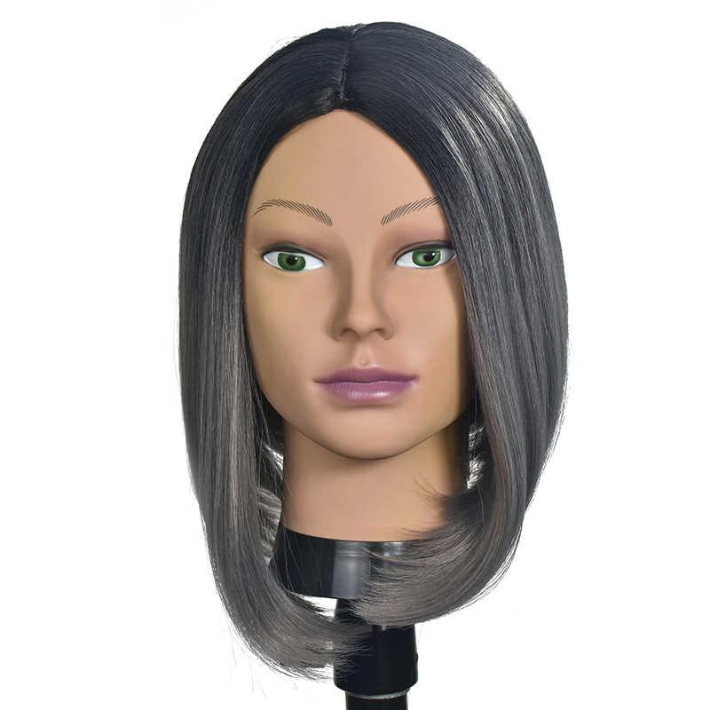 Cabeza de maniquí africano sin pelo para hacer peluca, sombrero para mostrar cosmetología, cabeza de maniquí, muñecas femeninas calvas para práctica de maquillaje