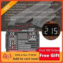 HABOTEST HT106E Socket Testers Voltage Test Socket detector UK Plug Ground Zero Line Plug Polarity Phase Check