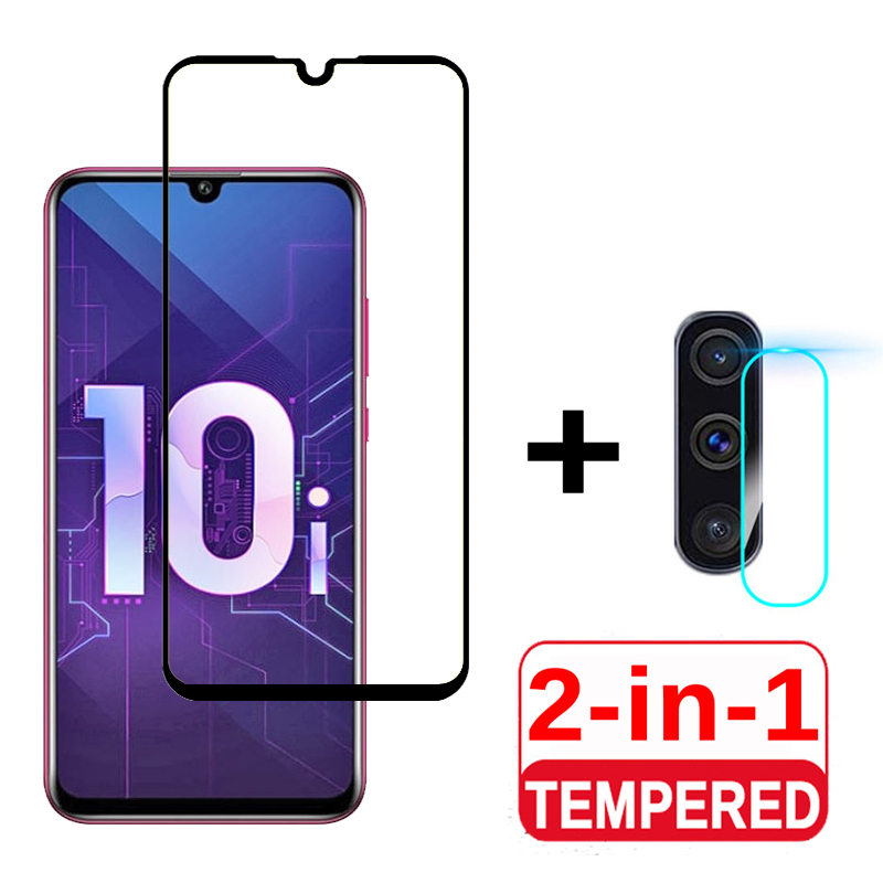 2-in-1 Tempered Glass For Honor 10i Huawei Screen Protector & Camera Soft Tempered Glass On Honor 10i HRY LX1T Protective Film