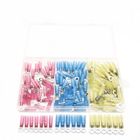 120Pcs Seal Heat Shrink Crimp Terminals Waterproof M5 Ring Eyelet Electrical Wire Splice Butt Connectors 22-10AWG Assortment