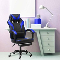 Office Computer Chair Ergonomic Adjustable Reclining Executive Office Furniture PU Leather Gaming Chair Armchair with Footrest