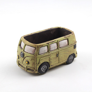 Image 1 - Cute Car Concrete Planter Mold Silicone Flowerpot Mould Handmade Cement Home Decoration Tool