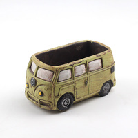 Cute Car Concrete Planter Mold Concrete Flowerpot Mould Handmade Cement Home Decoration Tool