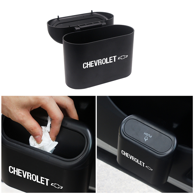 Car Trash Can Storage Box Auto Garbage Bag Cleaning Supplies For Chevrolet Cruze Captiva Lacetti spark Aveo Orlando Epica