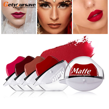 12 Colors Sexy Red Lip Lazy Lipstick Waterproof Matte Lipstick Long Lasting Lip Gloss Makeup Nude Lip Gloss Makeup