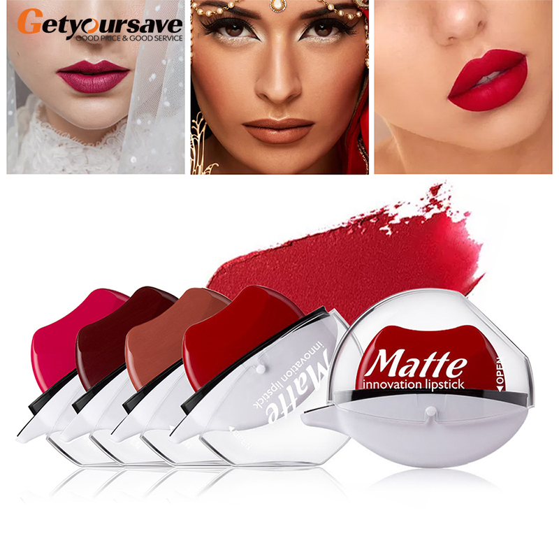 12 farben Sexy Rote Lippen Faul Lippenstift Wasserdicht <font><b>Matte</b></font> Lippenstift Long Lasting Lip Gloss Make-Up Nackt Lip Gloss Make-Up image