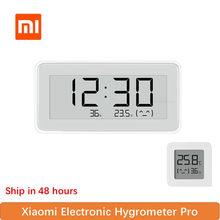 Xiaomi Mijia BT4.0 inalámbrico inteligente eléctrico Digital Reloj higrómetro interior termómetro E-tinta herramientas de medición de temperatura Nuevo