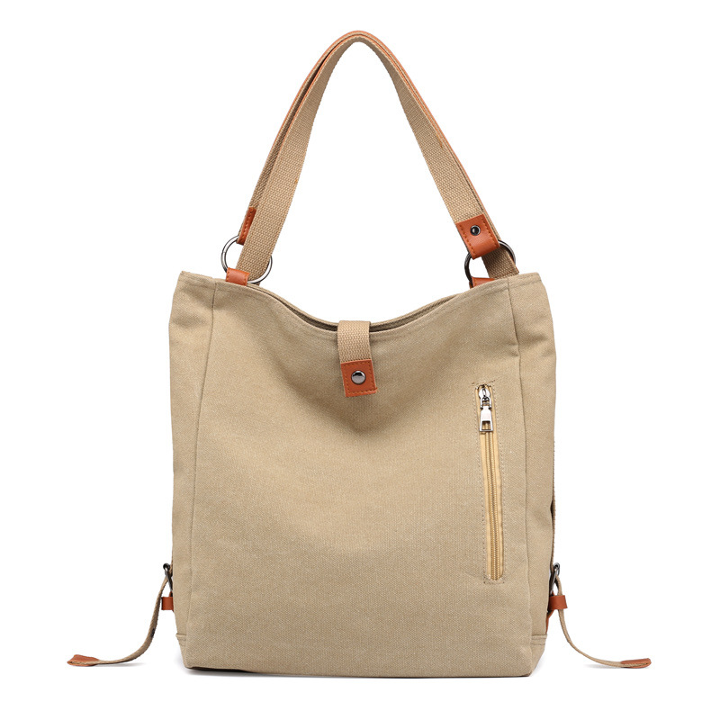 Canvas Women Shoulder Bags High Quality Multifunction Women Back Pack For Students School Travel Bags Large Capacity 3