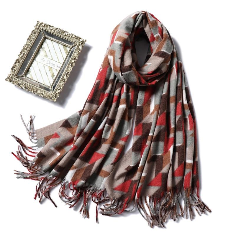2019 New Winter Scarf Women Thick Warm Shawls And Wraps Large Soft Neck Scarves Cashmere Blanket Scarfs Lady Pashmina Echarpe