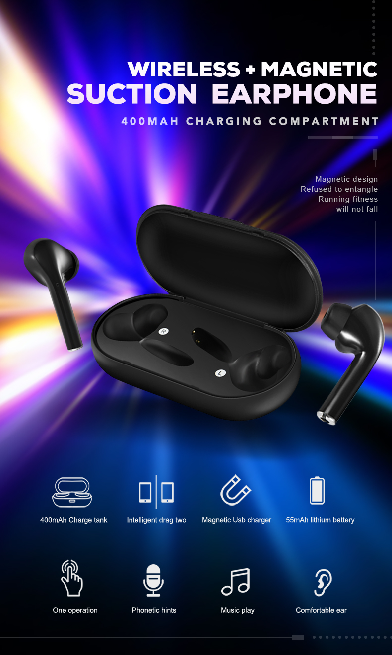 Bluetooth V5.0 Touch operate Headset TWS True Wireless Dual Earbuds Bass Sound For Huawei Xiaomi Iphone Samsung Mobile Phone H51ac5ee155004e21b15414702284ae0ab