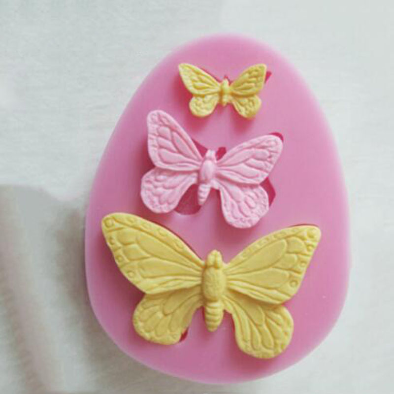 2Pcs New Sugarcraft Butterfly Silicone Molds Fondant Mold Cake Decorating Tools Chocolate Moulds Wedding Decoration Mould