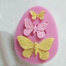 2 шт Новые силиконовые формы в форме бабочек для украшения торта, шоколадные формы, формы для свадебного украшения