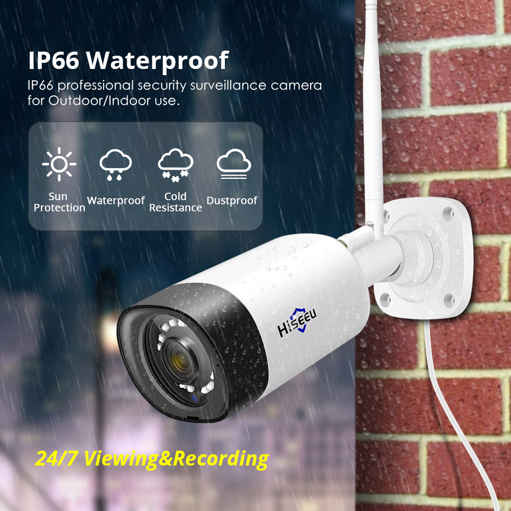 Hiseeu trådlöst CCTV-kamerasystem 1080P 8ch 2MP IP-kamera Audio - Säkerhet och skydd - Foto 2