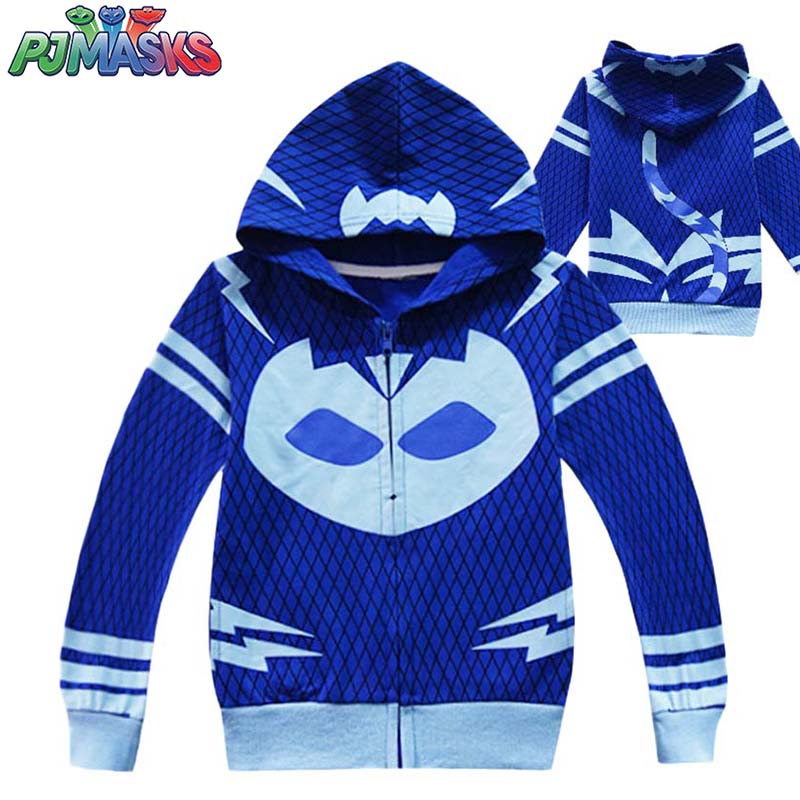 2020 New PJ Masks Spring And Autumn Children's Zipper Jacket Boy's Clothing With Hat Warm Jacket
