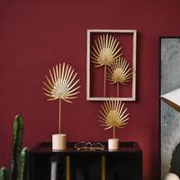 북유럽 철 럭셔리 황금 바나나 잎 장식품 홈 가구 공예품 선물 거실 캐비닛 아트 홈 장식 액세서리|피규어 & 미니어처|   -