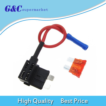 12V Car Add-a-circuit Fuse TAP Standard ATM APM Auto Blade Fuse Holder 10A diy electronics image