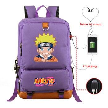 Светящаяся Аниме Наруто школьная сумка для подростка, ноутбука, дорожные рюкзаки для мальчиков/девочек/женщин/мужчин, большая вместительность, унисекс, Kpop Bookbag Mochila