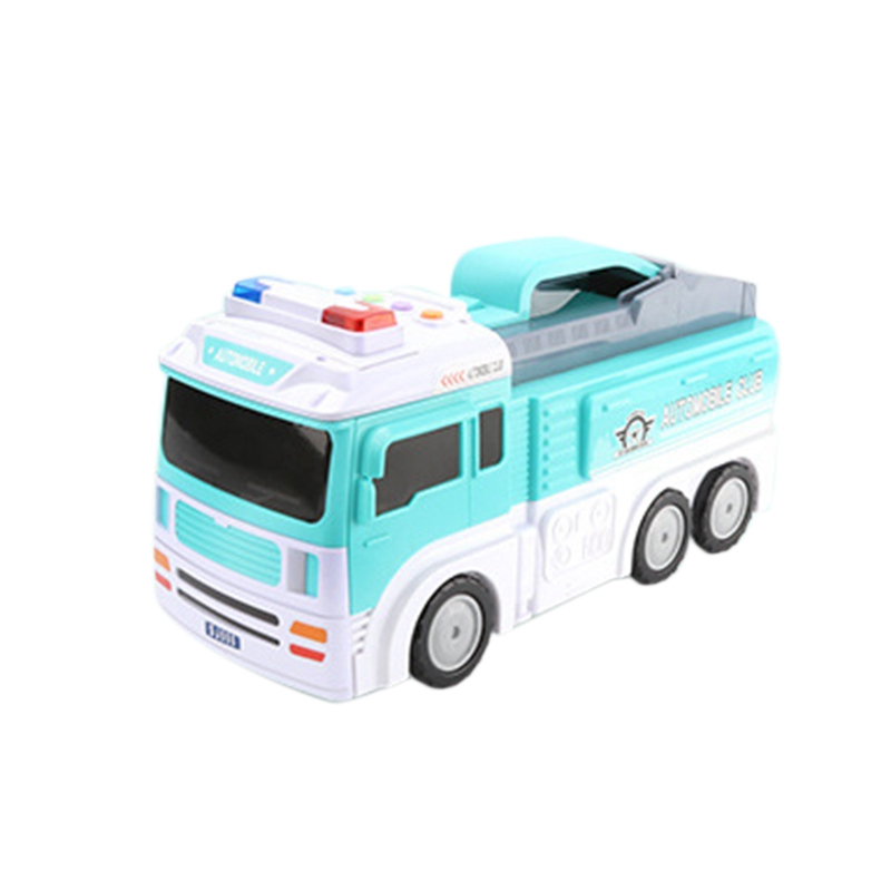 Early Education Music Track Toy Car Engineering Scene Track Storage Car Model Large Storage Car