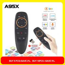 G10 Air Mouse Voice Remote Control with 2.4G Microphone Gyroscope IR Learning Mini Wireless Smart Remote for Android TV BOX PC