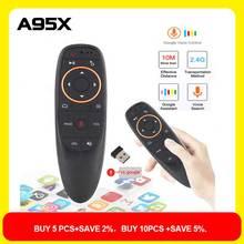 G10 Air souris télécommande vocale avec 2.4G Microphone Gyroscope IR apprentissage Mini télécommande intelligente sans fil pour Android TV BOX PC